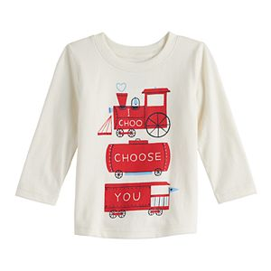 Baby Boy Jumping Beans® Trains Long Sleeve Graphic Tee