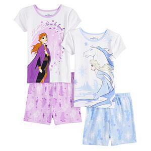 Disney's Frozen 2 Elsa & Anna Girls 4-8 Tops & Bottoms Pajama Set