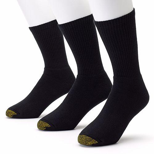 Men's GOLDTOE 3-pk. Black Uptown Crew Socks