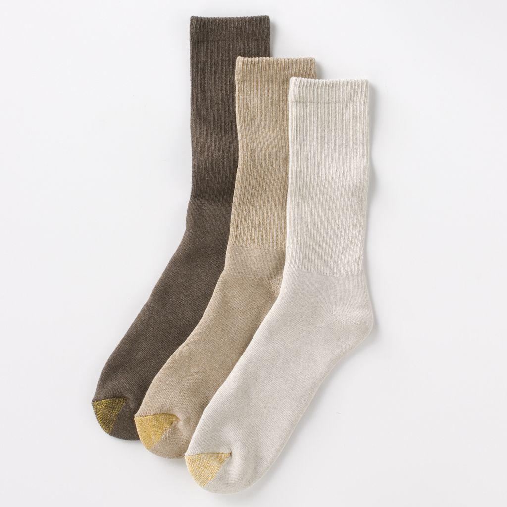 Men's GOLDTOE 3-pk. Uptown Crew Socks