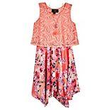 Girls 7-16 IZ Amy Byer Lace Popover Floral Dress
