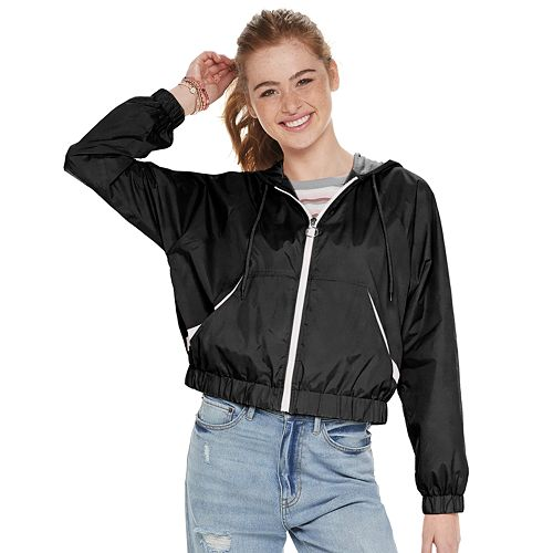 Juniors' Pink Republic Hooded Windbreaker Jacket