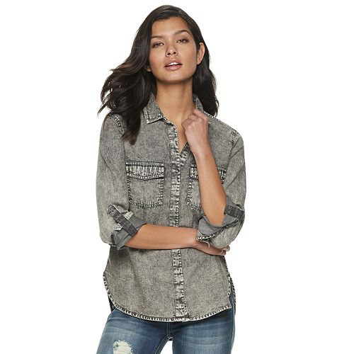 Women's Rock & Republic® Snap Front Utility Shirt