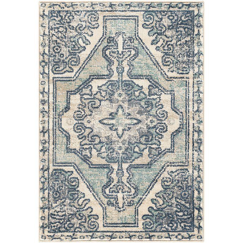 Decor 140 Valmont Teal Rug, Blue, 2X3 Ft