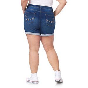 Juniors' Plus Size WallFlower High-Rise Insta-Soft Sassy Shorts