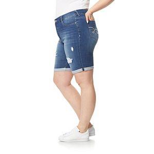 Juniors' Plus Size WallFlower High-Rise Insta-Soft Irresistible Bermuda Shorts