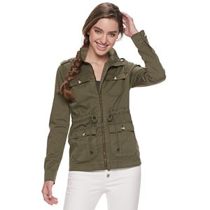 Juniors' SO® Essential Utility Jacket with Drawcord