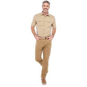 Men's Croft & Barrow® Solid Crosshatch Button-Down Shirt