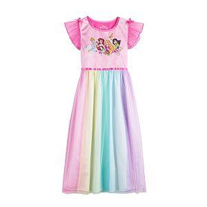 Disney Princess Girls 4-8 Fantasy Gown Nightgown