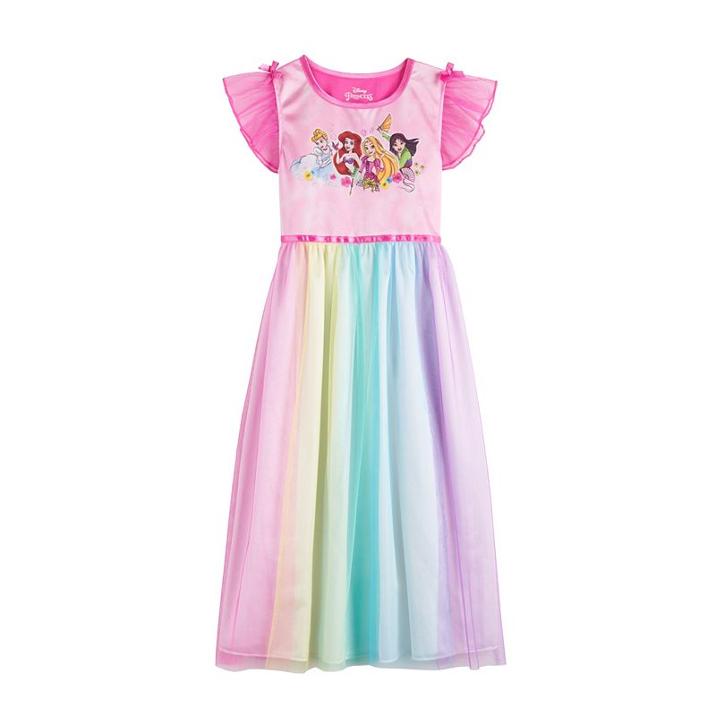 Disney Princess Girls 4-8 Fantasy Gown Nightgown. Girl's. Pink