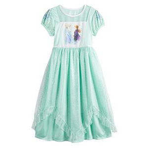 Disney's Frozen 2 Elsa & Anna Girls 4-8 Fantasy Gown Nightgown