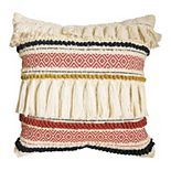 SONOMA Goods for Life® Ultimate Woven Stripe Fringe Feather Fill Throw Pillow