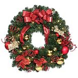 National Tree Company 30'' Home Spun Wreath with Clear Lights