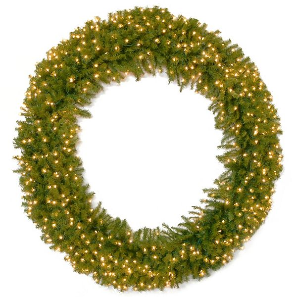 National Tree Company 72 Norwood Fir Deluxe Wreath With Clear Lights