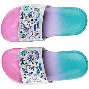Girls Elli by Capelli Rainbow Sleeping Unicorn Slide Sandals
