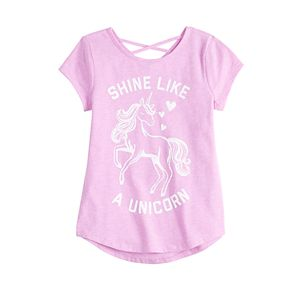 Girls 4-12 Jumping Beans® Crossback Tee with Graphic