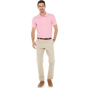 Men's Croft & Barrow Easy-Care Pique Polo in Regular and Slim Fit