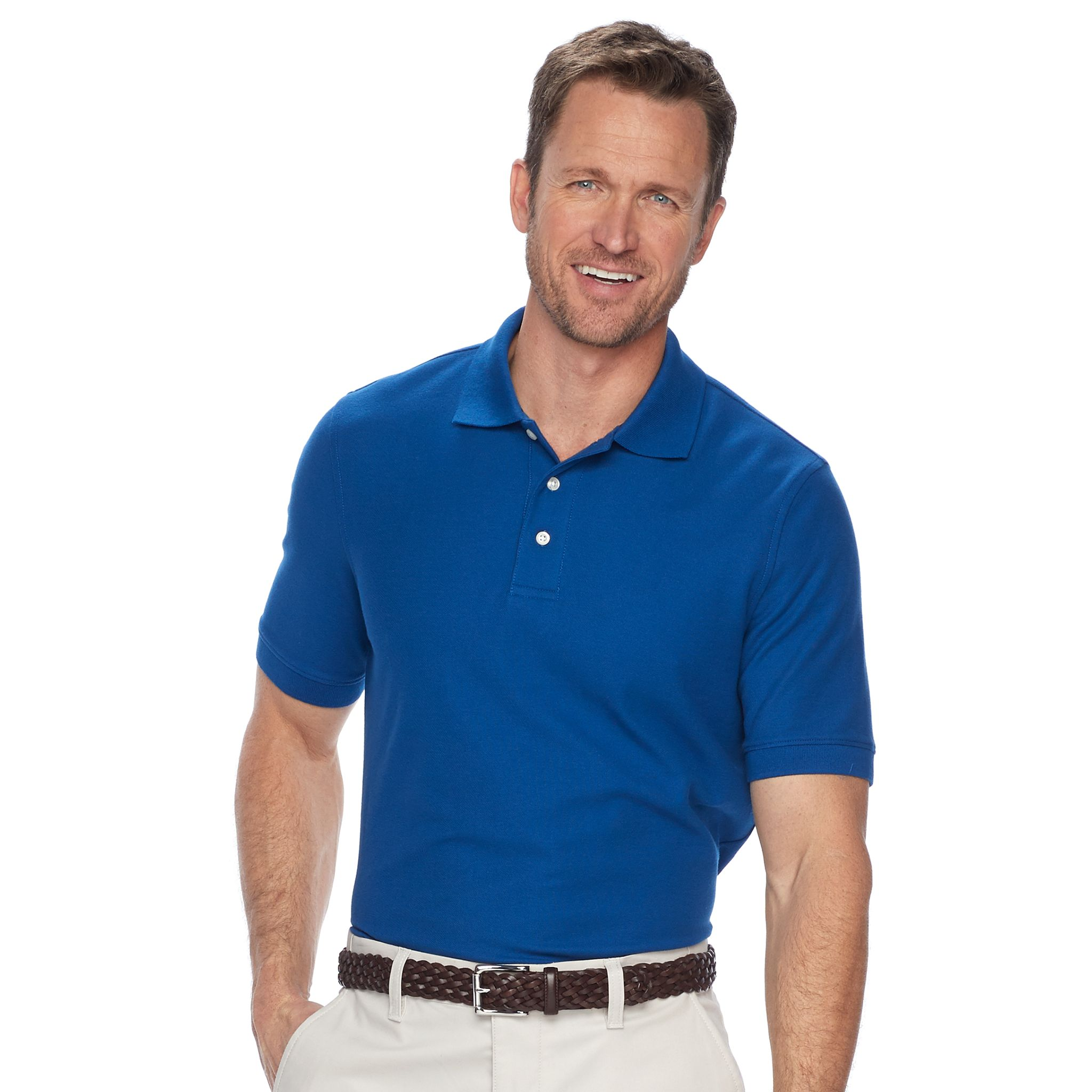 3 X Croft & Barrow Mens Easy-Care Pique Polo in Regular and Slim Fit