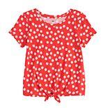 Girls 4-20 & Plus Size SO® Knot Hem Tee
