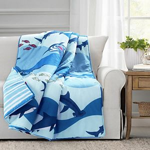 Lush Decor Shark Allover Throw