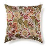 Jacquard Woven Floral Throw Pillow