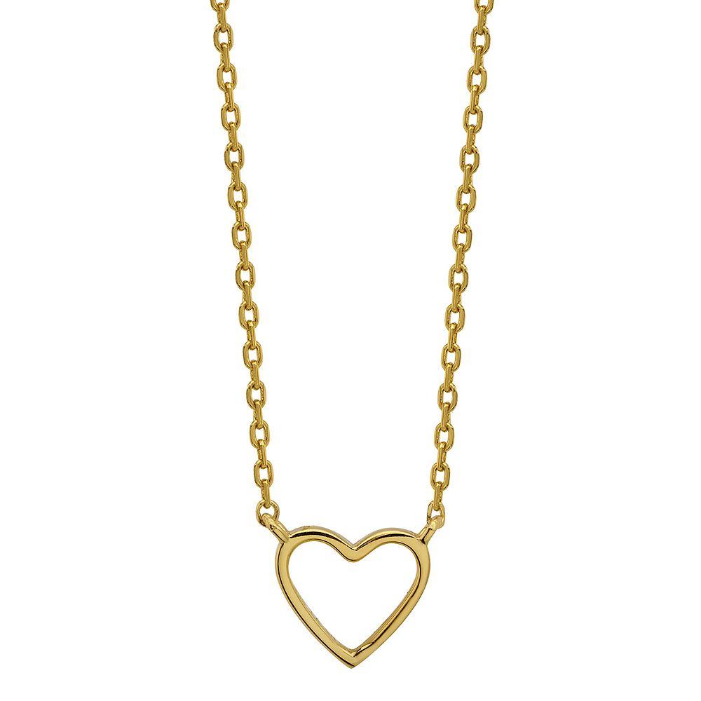 "LovethisLife® Sterling Silver ""Love"" Heart Necklace"