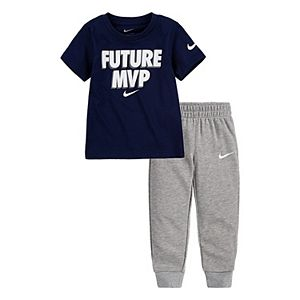 Baby Boy 2-Piece Nike T-Shirt & Joggers Set