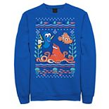 Disney / Pixar's Finding Dory Men's Hank Nemo Dory Ugly Sweater Style Graphic Fleece Pullover