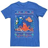 Disney / Pixar's Finding Dory Men's Hank Nemo Dory Ugly Sweater Style Graphic Tee