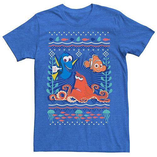 Disney / Pixar's Finding Dory Men's Hank Nemo Dory Ugly Sweater Style Graphic Tee
