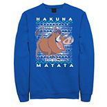 Men's Disney Lion King Pumba Ugly Christmas Sweatshirt
