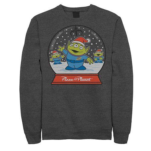 Men's Disney / Pixar Toy Story Aliens Pizza Planet Snowglobe Fleece Sweatshirt