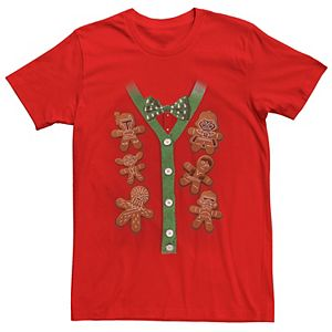 Men's Star Wars Character Gingerbread Cookie Christmas Suit Graphic Tee