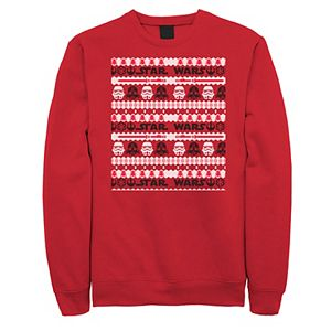 Men's Star Wars Darth Vader Trooper Ugly Christmas Sweater Graphic Fleece Pullover