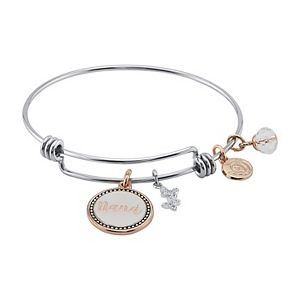 "LovethisLife® ""Nana"" Two-Tone Charm Bangle Bracelet"
