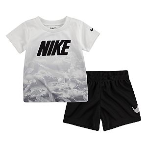 Baby Boy Nike Abstract Tee & Shorts Set