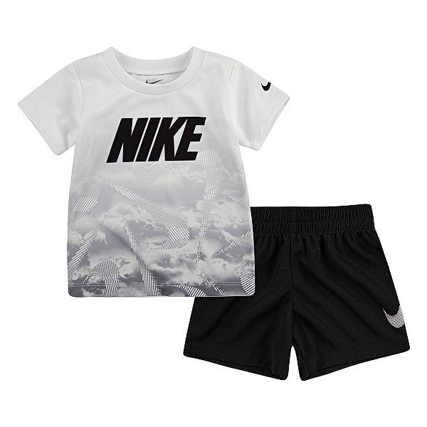 arbusto Profecía Traición  Baby Boy Nike Abstract Tee & Shorts Set