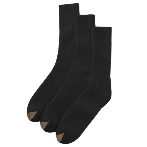 GOLDTOE 3-pk. Casual Crew Socks - Extended Size