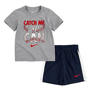 Toddler Boys Nike 2-Piece Catch Me If You Can T-Shirt & Shorts Set