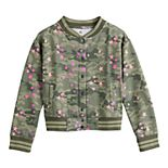 Girls 4-20 SO® Fleece Bomber Jacket