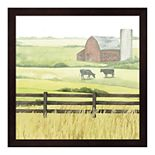 Metaverse Art Sunlit Graze II Framed Wall Art