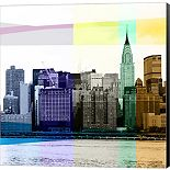 Metaverse Art Heart of a City II Canvas Wall Art