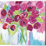 Metaverse Art Joyful Tulips Canvas Wall Art