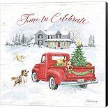 Metaverse Art Farmhouse Holidays VIII Canvas Wall Art