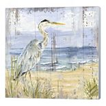 Metaverse Art Birds of the Coast Rustic I Canvas Wall Art
