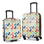 American Tourister Disney's Mickey Mouse 2-Piece Roll Aboard Hardside Luggage Set