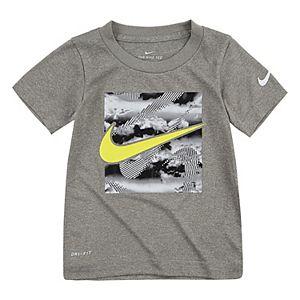 Nike Little Boys Dri Fit Graphic Print Tee Shirt Size 2T 4 6  Grey