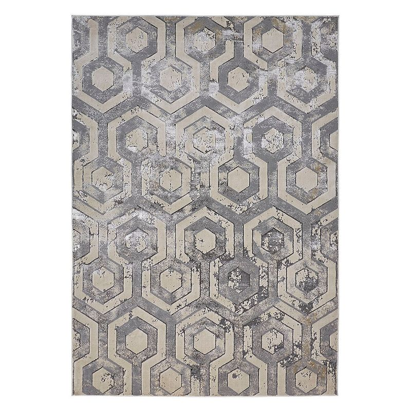 Weave & Wander Orin Rug, Beig/Green, 6.5X9.5 Ft