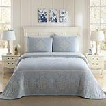 White Birch Jules Cotton Jacquard Bedspread or Sham