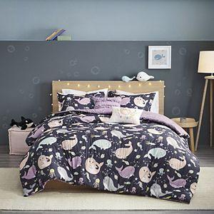 Urban Habitat Kids Narwhal Dreams Cotton Reversible Comforter Set